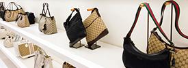 Expensive Gucci handbags in Isetan department store, Shinjuku, Tokyo, Japan